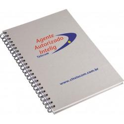 Caderno Executivo Aço Escovado