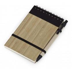 Bloco De Anotações Reciclado Capa Bambu