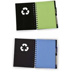 Caderninho Ecológico Com Caneta Reciclável
