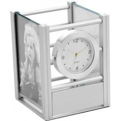 Porta Caneta/Foto Com Relógio Analógico