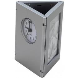 Porta Caneta C/ Relógio E Porta Retrato
