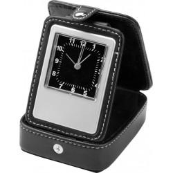 Relógio De Mesa Digital Em Couro