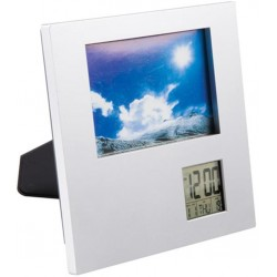 Porta Retrato De Mesa C/ Relógio Digital