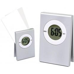 Relógio De Mesa Digital E Porta Recado