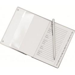 Indice Telefônico Em Aluminio C/ Mini Caneta