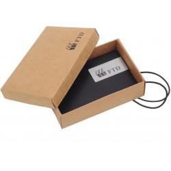 Porta Cartão Em Couro Sintético Com Embalagem