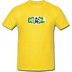 Camiseta Amarela Malha 30.1 Penteada