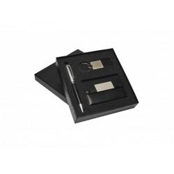 Conjunto De Caneta , Chaveiro E Porta Cartão