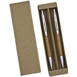 Conjunto Ecológico Caneta E Lapiseira Bambu